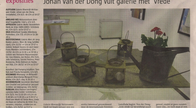 Article about Peace in all languages (Part Im KZ Gestorben) Gallery Bloemrijk Vertrouwen