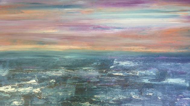 Grooves of the Sea (North Sea) Oil on Canvas